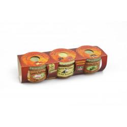 Terrine de porc aux chataignes 200 gr+ Terrine de canard au Foie gras 200 gr + Terrine Ardéchoise pur porc 200 gr