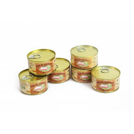 Paté de campagne 200 gr boite en fer x 6